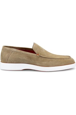 santoni Men Loafers - Men's Years Of Age Suede Loafers - - Size 9.5