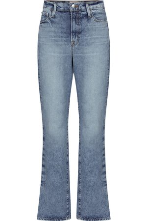 Frame Le Drew high-rise straight jeans