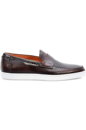 santoni Men's Years Of Age Leather Loafers - - Size 8.5