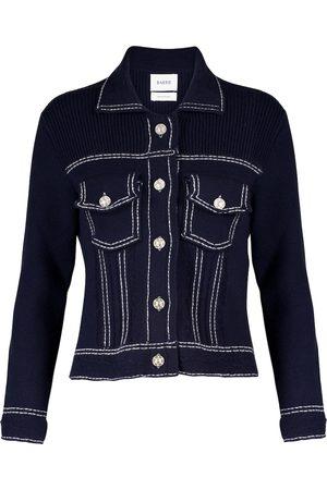 Barrie Women Denim Jackets - Cashmere and cotton knit jacket