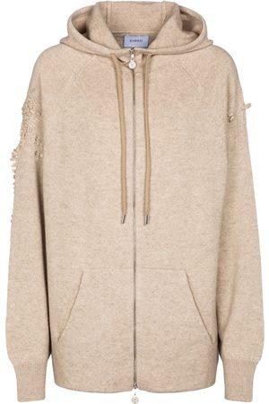 Barrie Zip-through cashmere hoodie