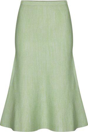 Victoria Victoria Beckham Fluted knit midi skirt