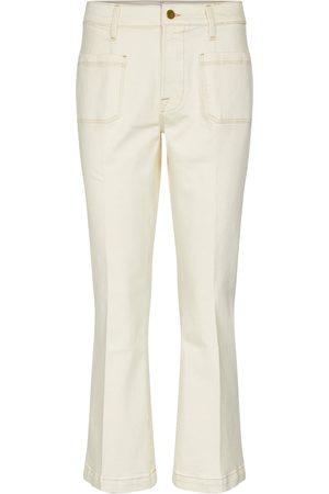 Frame Le Bardot cropped flared jeans