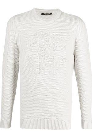 Roberto Cavalli Raised logo wool jumper - Neutrals