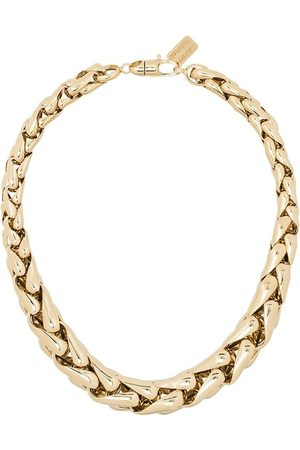 Lauren Rubinski 14kt square link necklace