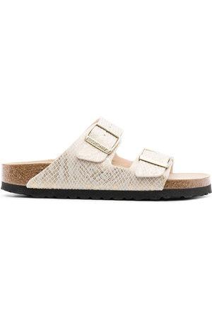 Birkenstock Arizona python-print sandals - Neutrals