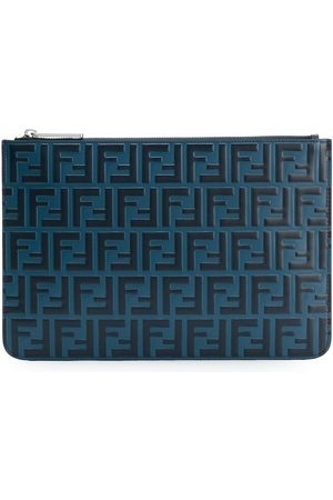 Fendi Double F logo pouch