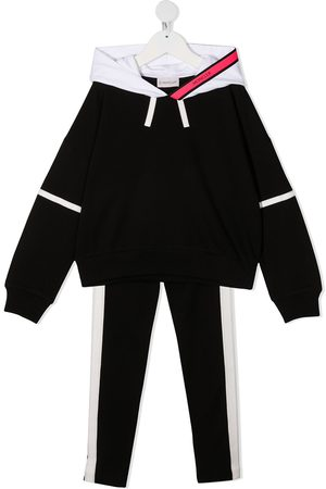 Moncler Girls Tracksuits - Two-tone cotton tracksuit