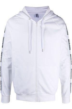 Moschino Logo-tape zip-up hoodie