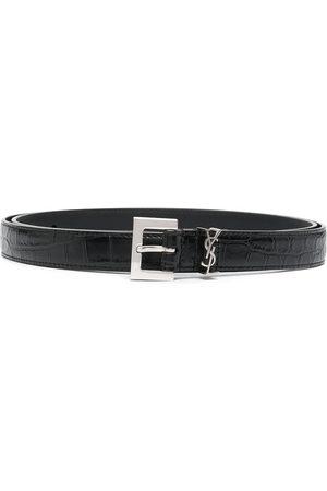 Saint Laurent Men Belts - Monogram buckle belt