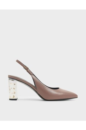 CHARLES & KEITH Women Pumps - Lucite Heel Slingback Pumps