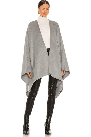 L'Academie Women Ponchos & Capes - Maeve Cape in Grey.