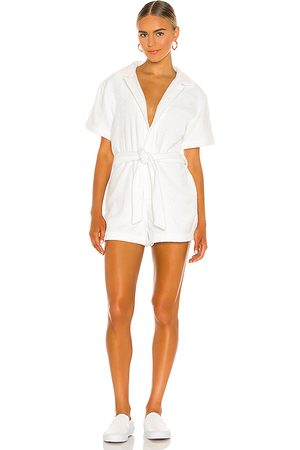 TERRY Women Playsuits - Belted Romper in White.