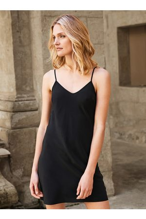 Peruvian Connection Silk Slip Dress