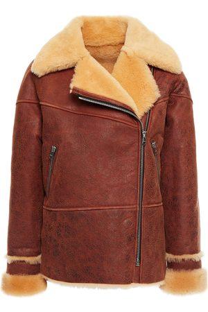 Sandro Women Jackets - Woman Zinal Shearling Biker Jacket Size 4