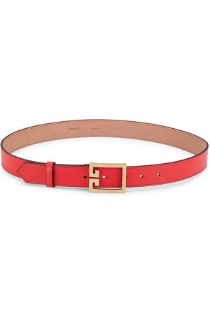 Givenchy Women's GV3 Leather Belt - Light - Size 75 (XS)