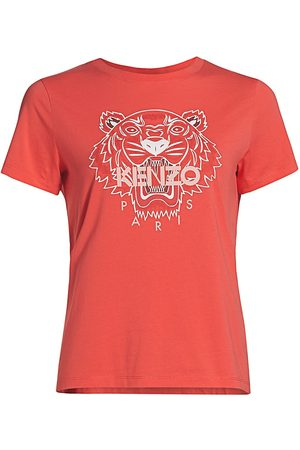 Kenzo Women's Classic Tiger Classic T-Shirt - Tangerine - Size XL