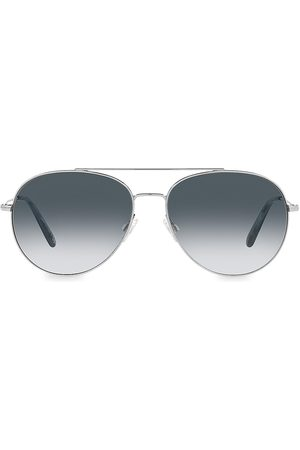 Oliver Peoples Men's Airdale 58MM Aviator Sunglasses