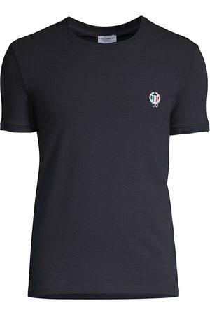 Dolce & Gabbana Men T-shirts - Men's Sport Crest Crew T-Shirt - Navy - Size 3 (XS)