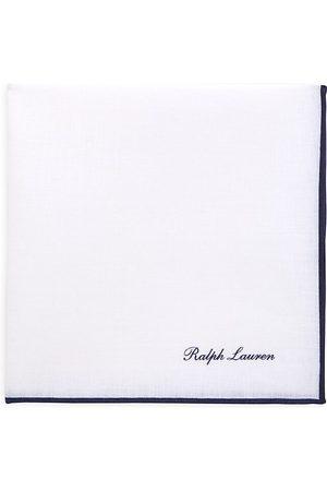 Ralph Lauren Men's Monogram Silk Pocket Square - Navy