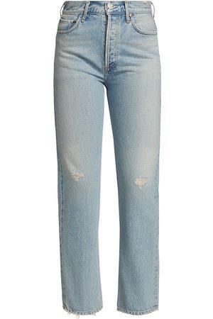 AGOLDE Women's 90s Pinch Waist Flashback Straight-Leg Jeans - Flashback Light Indigo - Size 31 (10)