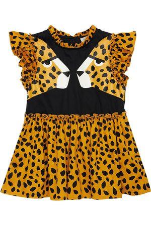 Stella McCartney Girls Printed Dresses - Cheetah Print Organic Cotton Dress
