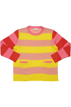 Stella McCartney Striped Bubble Cotton Knit Sweater