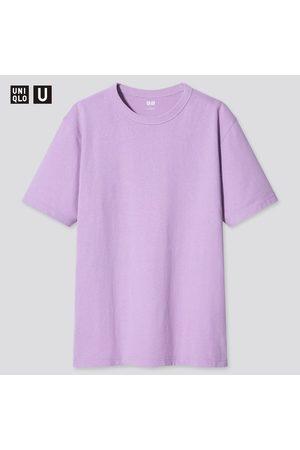 UNIQLO Men's U Crew Neck Short-Sleeve T-Shirt, Purple, XXS