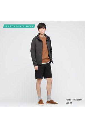 UNIQLO Men Hoodies - Men's Ultra Stretch Dry Sweat Full-Zip Hoodie, Gray, XXS
