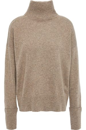 AUTUMN CASHMERE Women Turtlenecks - Woman Cashmere Turtleneck Sweater Taupe Size S