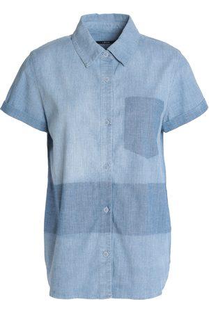 J Brand Women Short sleeves - Woman Wylie Two-tone Cotton-blend Chambray Shirt Light Size XS