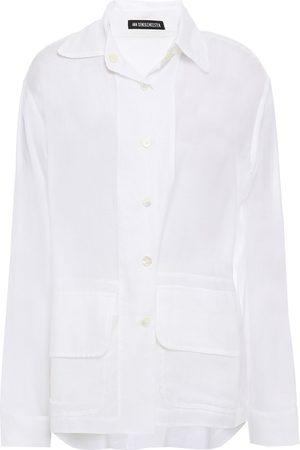 ANN DEMEULEMEESTER Women Long sleeves - Woman Cotton And Cashmere-blend Shirt Size 38