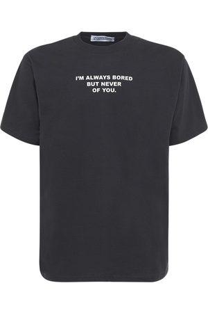 HUMAN SOCIETY Men T-shirts - Bored Print Cotton T-shirt