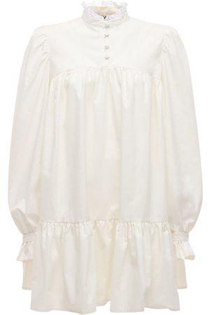 AVAVAV Lvrexclusive Ruffled Cotton Blend Dress