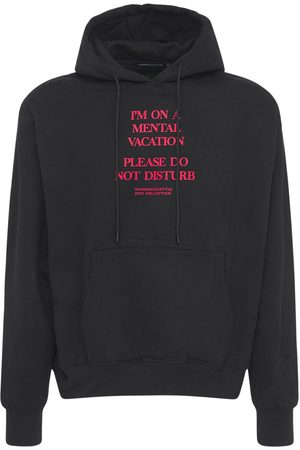 HUMAN SOCIETY Mental Vacation Cotton Blend Hoodie