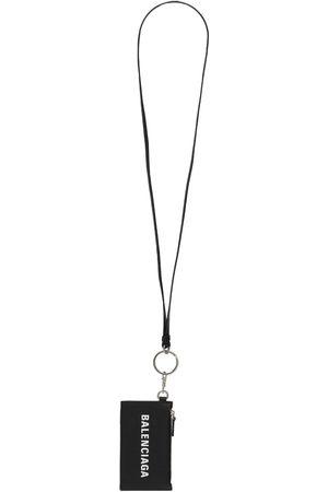 Balenciaga Logo Leather Case & Keychain