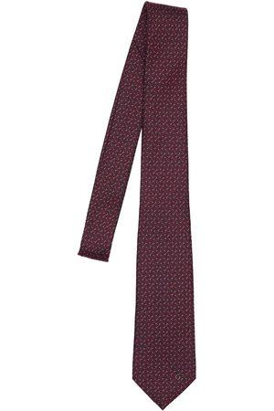 Gucci 7cm Gg Geometric Print Silk Tie