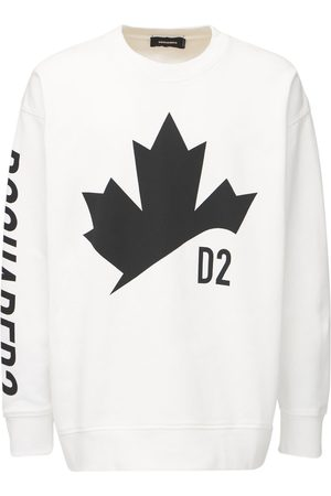 Dsquared2 Printed Over Cotton Jersey Sweatshirt