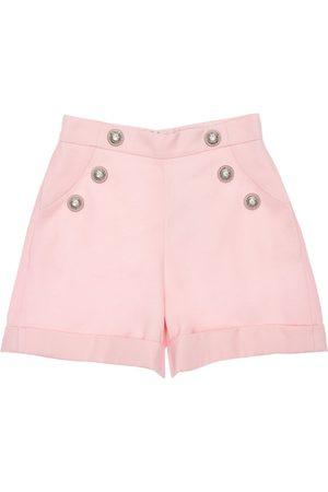 Balmain Wool Shorts W/ Buttons