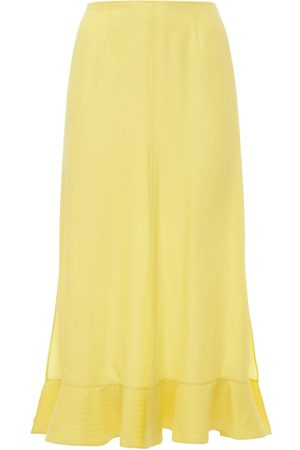 Rochas Habutai Flared Silk Midi Skirt
