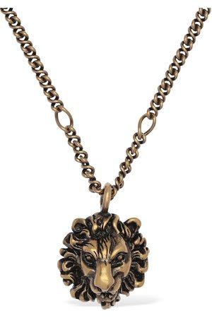 Gucci Lionhead Long Chain Necklace