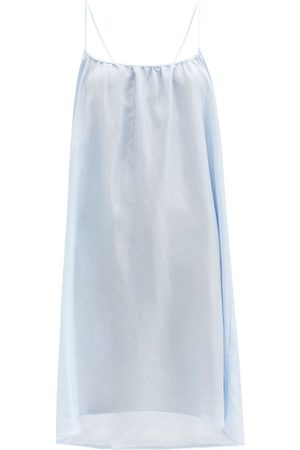 Loup Charmant Racerback Silk-poplin Mini Dress - Womens - Light