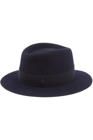Le Mont St Michel Women Hats - Andre Felt Fedora Hat - Womens - Navy