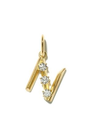 Jade Trau Women Diamond & 18kt Initial Charm (n-z) - Womens