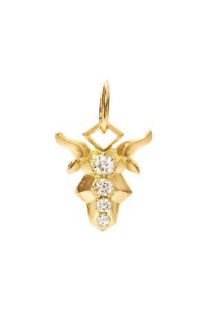 Jade Trau Capricorn Diamond & 18kt Zodiac Charm - Womens