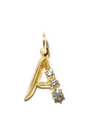 Jade Trau Women Necklaces - Diamond & 18kt Initial Charm (a-m) - Womens