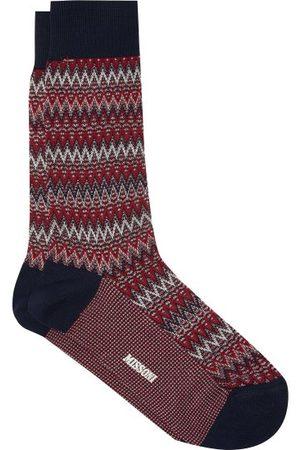 Missoni Zigzag Cotton-blend Socks - Mens - Multi