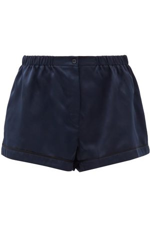 Araks Women Shorts - Tia Silk-satin Pyjama Shorts - Womens - Dark Navy