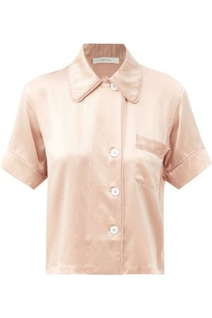 Araks Shelby Short-sleeve Silk-charmeuse Pyjama Shirt - Womens