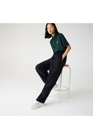 Lacoste Women's High-waisted Flared Wool Blend Pants :